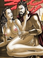 The buffed up king Leonidas gives his queen some hardcore fucking