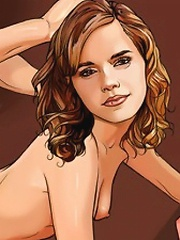 Emma Watson gags on a fat shaft and rides it wildly