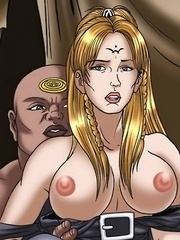 Sexy blonde hotties get their pussies ripped off Star Gate movie